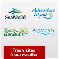 SeaWorld Orlando - Três parques à sua escolha - Adulto ou Criança